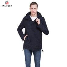 2019 New Spring Men Jacket Autumn Thin Padded Jacket Trench Coat Men Casual Jacket Parka Uomo Detachable Hood Outwear Russian detachable faux fur hood zippered padded jacket