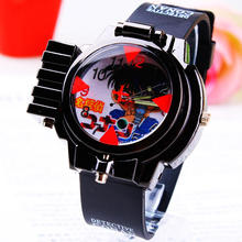 2016 New Children Fashon With Red line Light Conan laser Gift Child Watch copper laser Wristwatches Boy Student Sports Watches