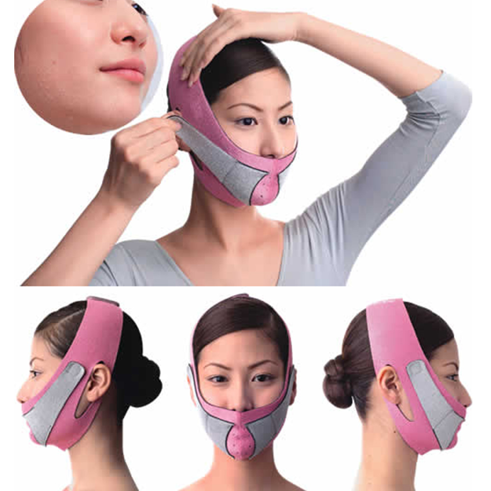 Trend Mark 1pcs Face Slimming Mask Chin Support Face Lift Up Belt Facial Thin Lifting Belt V Face Shaper Massage Anti Snoring Bandage Strap Fashionable In Style;