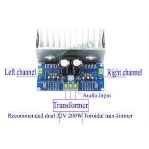 Image 4 - AIYIMA TDA7293 Audio Amplifier Board 100W*2 Digital Stereo Power Amplifier Board With Heatsink Dual AC12 32V