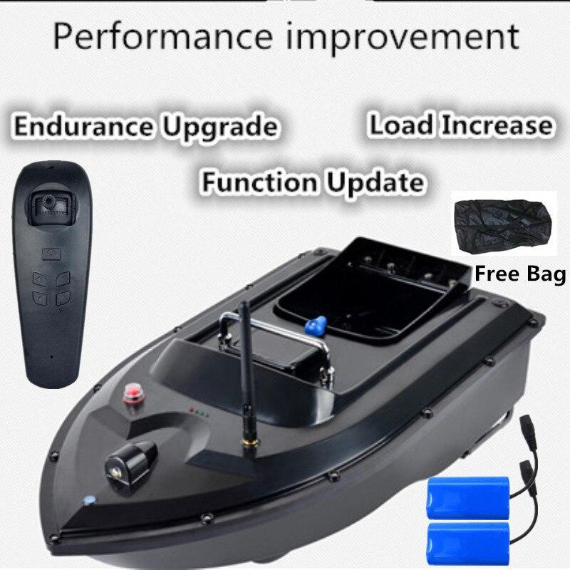 Nova Atualização RC Barco Isca De Pesca de 500 m de Distância RC correção de rota Automático RC Barco Peixe Com 2 pcs 5200 mah Bateria Gift Bag Grátis