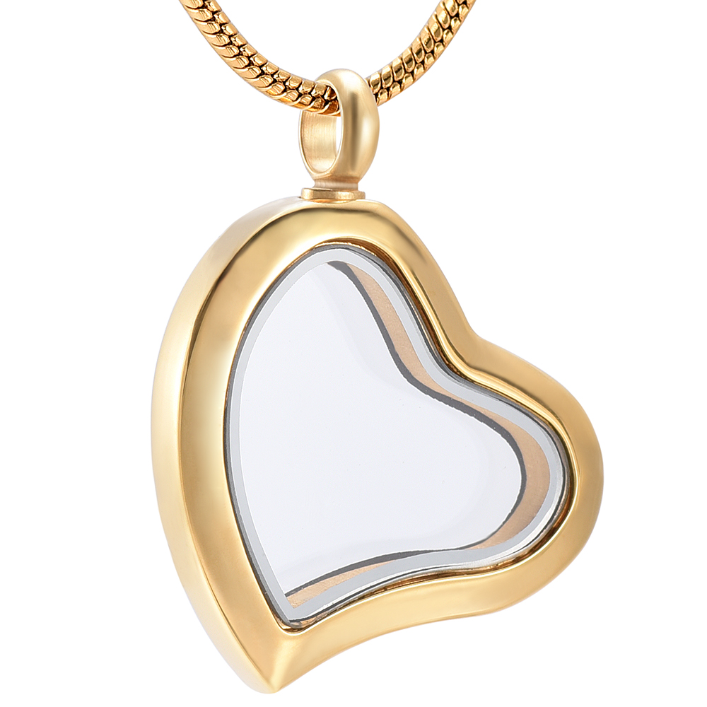 XWJ9966 Hot Sellling Fashion Heart Glass Cremation Jewelry Funeral Keepsake Ashes Urn Necklace for Pet Human Memorial Cheap