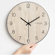 2017 Meijswxj Wall Clock Saat Relogio de parede Reloj Duvar saati Creative Wooden Mute Clock Living Room Bedroom Wall Clocks