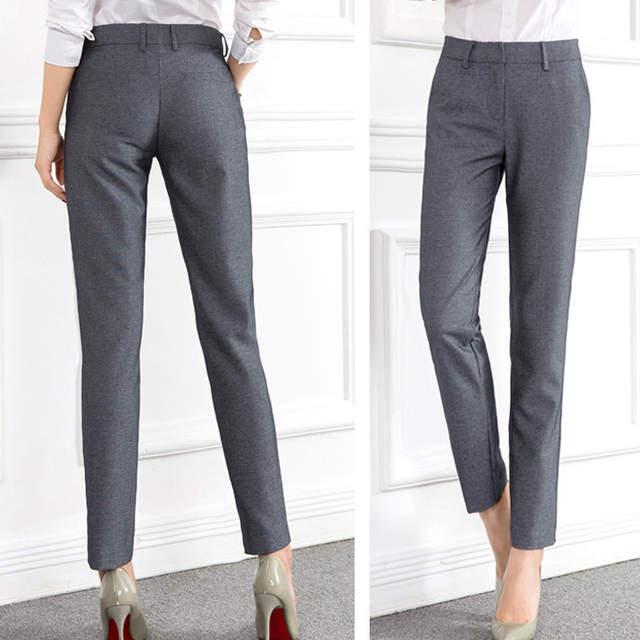 3ef9543c74d placeholder High Quality Women Formal Office Work Pants Black Grey Business  Suit Trousers Plus Size 4xl Ladies