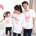 Family Style Matching Family Shirts Cotton Printing Shirts Fashion Plus Size Mother Daughter Clothes Summer Style T-Shirts