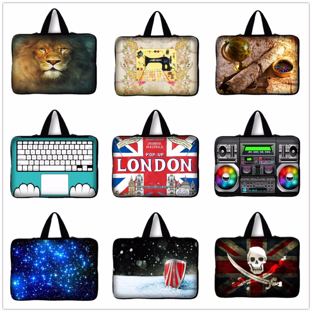 2016 New London Flag Laptop Sleeve Bag Case Carrying Handle Bag For Apple Asus HP Dell 14 14.1 14.4 Inch Notebook Netbook PC