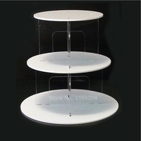 White Clear 3 Tier Cupcake Stand Wedding Cake Holder Birthday Party Dessert Display Trays Stand Fruit Plate Party Accessory