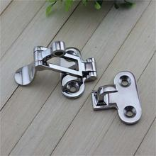2Pcs Marine Boat Deck Locker Anti-Rattle Latch Fastener 316 Stainless Steel 110mm Lockable Hold Down Clamp Hasp For Yachts
