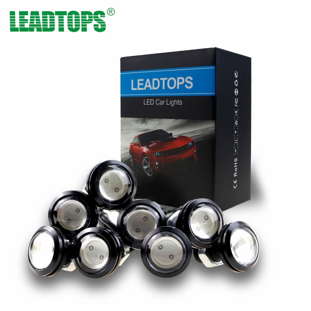 LEADTOPS 6PCS Led Daytime Running Lights Drl Eagle Eye 23mm waterproof Cob 12v Led Car Light For Car Styling Auto Fog Lights BC leadtops 2pcs waterproof cob chip led daytime running light 14 17cm led drl fog car lights car day external lights bc