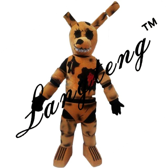five nights at freddys fnaf toy creepy brown bunny mascot costumes for adults christmas halloween outfit