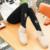 Inverno mulheres grávidas leggings de Veludo calças moda calças de impressão Além de Veludo Espessamento de Cintura Alta calças Quentes de Maternidade