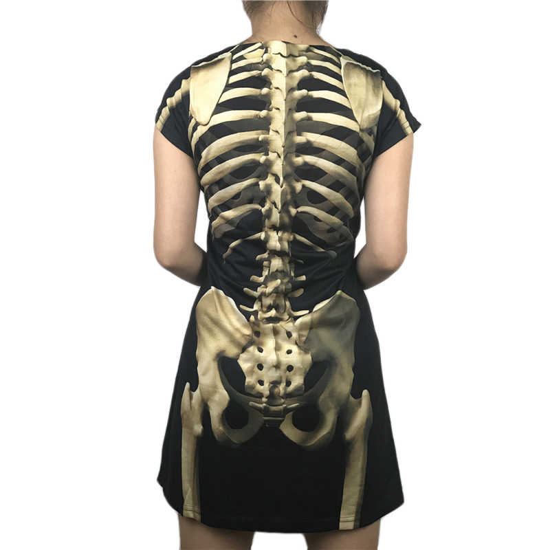 Scary Rip Cage Skeleton Halloween Costume for Women Horror Skeleton  Halloween Dress Plus Size