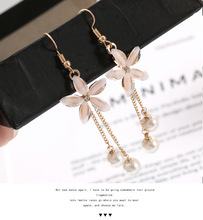 New Fashion Pearl earrings Crystal Flower Earring Cute Earrings For Women Jewelry Christmas Gift