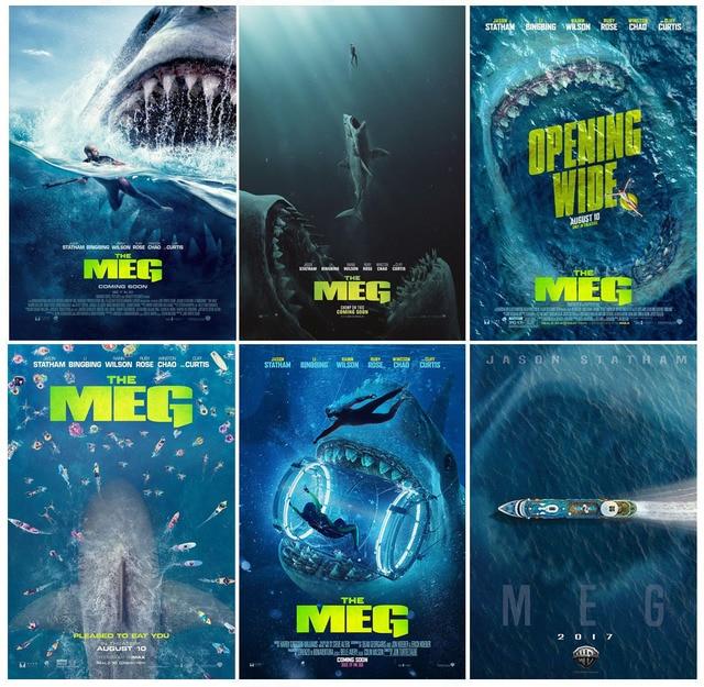 Mx016 The Meg Hot New 2018 Jaws Shark Horror Movie Jason