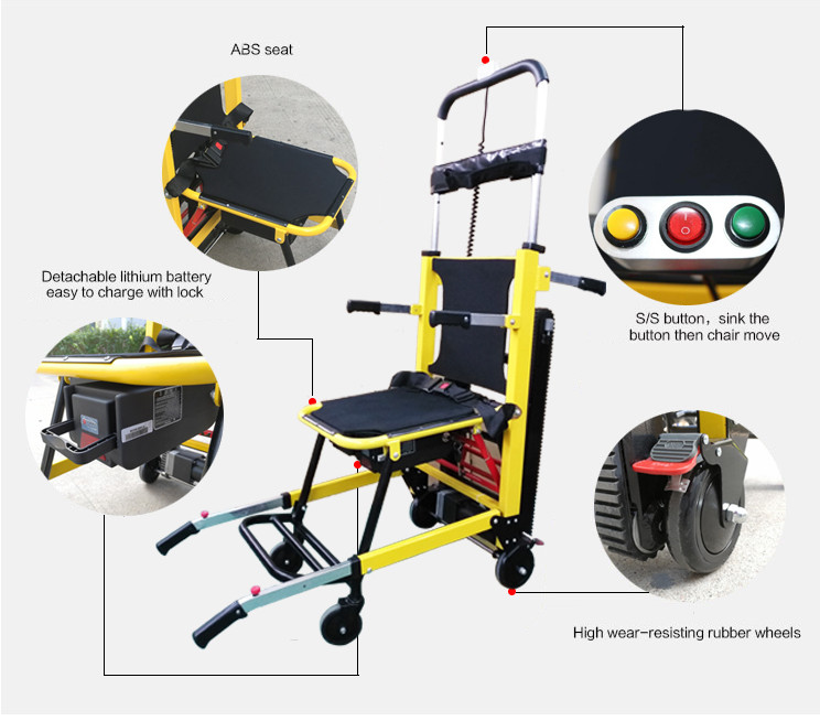 Cheap price of wheelchair folding active stair climbing electric wheelchair for disabled people