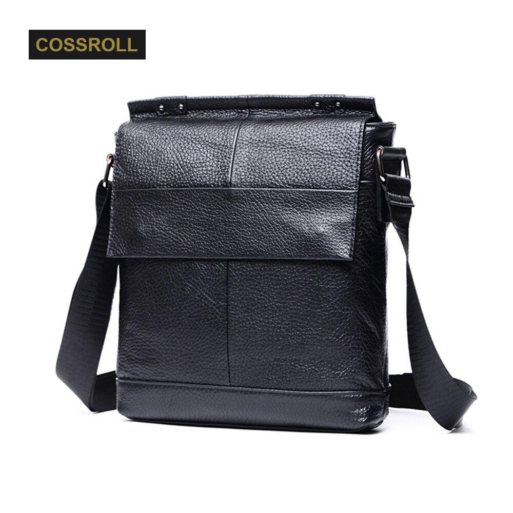 Business Men Genuine Leather Bag Natural Cowskin Men Messenger Bags Vintage Men's Cowhide Shoulder Crossbody men leather bag