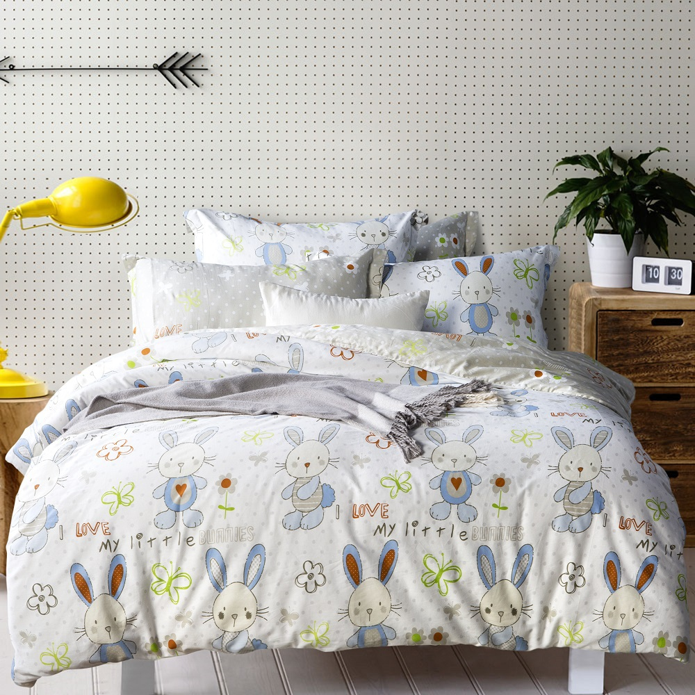 Cotton Anime Bed Linen S Kids Cartoon Lovely Bunny Bedding Sets Kawaii Ropa De Cama Conforter Set In From Home Garden On