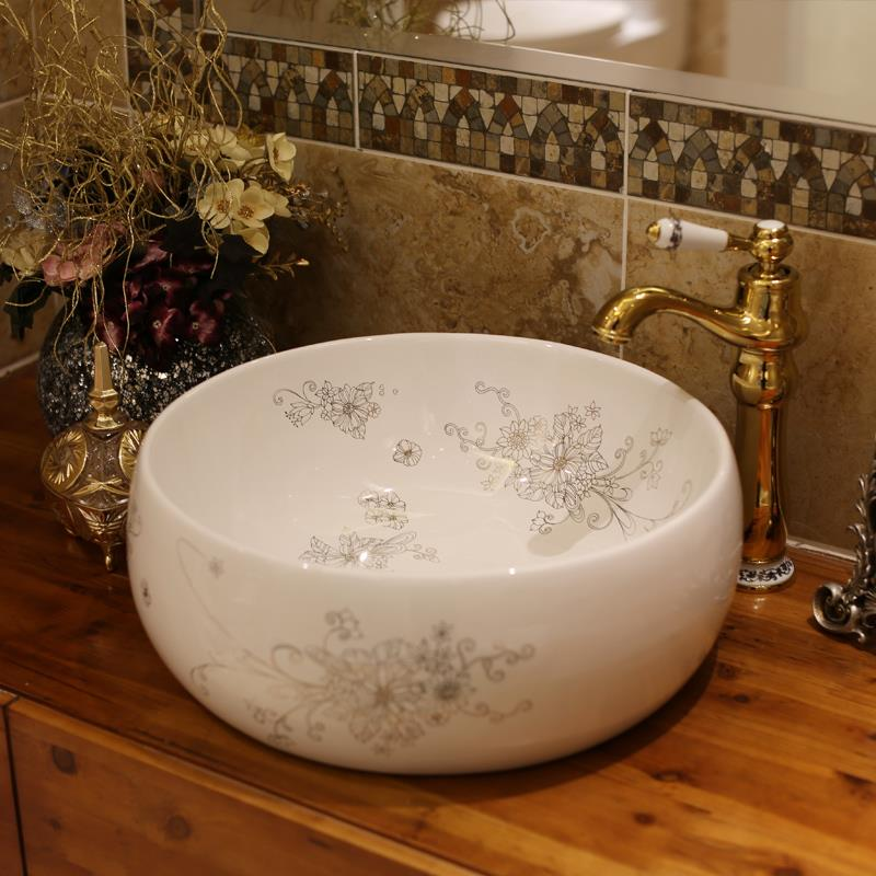 Europe Vintage Style Ceramic Sinks Counter Top Wash Basin Bathroom Sink Bathroom  Wash Hand Basin In Bathroom Sinks From Home Improvement On Aliexpress.com  ...