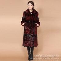 China 2017 koti affection qiu dong outfit new dress long mink fur mink fur coat wool coat