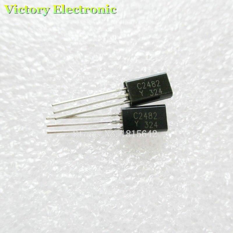50PCS Lot New C2482 2SC2482 2sc2482 Small Power Miniwatt Triode TO 92 Wholesale font b Electronic
