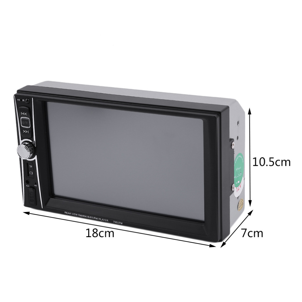 7 Inch TFT Touch Screen Car Radio Mp5 Player Bluetooth Mp4/MP5 1080P Movie Support Rear View Camera 2 Din Car Audio 12V car radio 7 inch lcd touch screen car radio player bluetooth hands free movie rear view camera 2 din audio stereo mp5