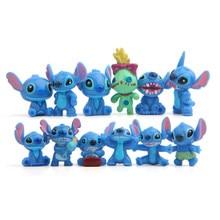 12pcs/set Stitch Action Figure Toys Cartoon Anime Cute Mini stitch figurines Home table Decoration dolls Diy toys for children