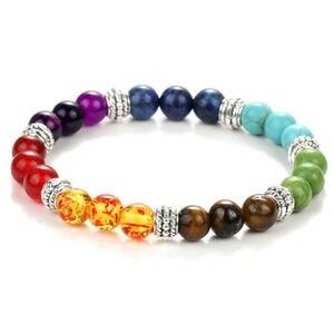 Браслет для мужчин, черный камень из натуральной лавы Будда, Yoga 7, голограмма, браслет для мужчин и женщин, Aliexpress