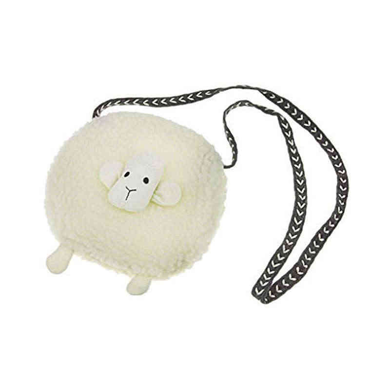Cute Sheep Shoulder Bag Girls Plush Cross Body Bag Messenger Small Wallet Coin Purse Baby Travel Phone Pouch Key Bag Satchel S