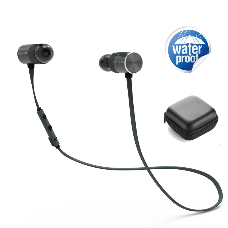 Magnetic Bass BX343 Wireless Earphone IPX5 Waterproof earphones Earbuds stereo Headset Sport Music with Mic for Phone 2017 meizu ep51 bluetooth waterproof sport earphone headset for phone computer wireless earphones apt x with mic stereo headsets