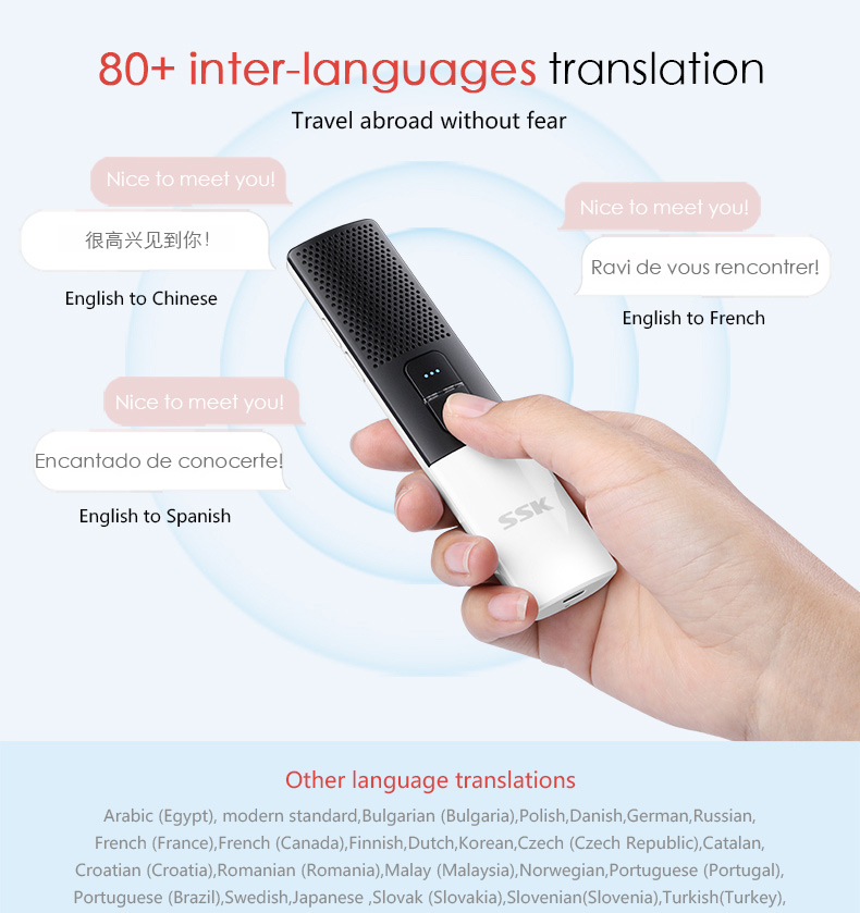 English to French Voice translator easy