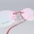 Moda Óculos Mulheres Óculos de Miopia Espetáculo Prescrição Óptica Óculos Armações de óculos Sem Aro de luz 601 (52-17-140)