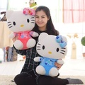 2017 New Design Pink And Blue Color KT Plush Toy 1pcs Big Size 45cm 18inch Cute Classic Children Lovers Gift Free Shipping
