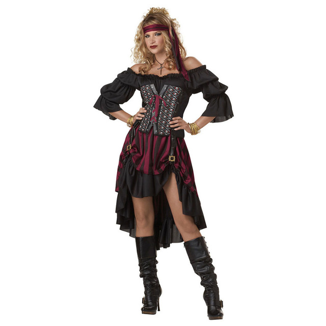 Adult Women Pirate Costume Female Thief Cracksman Costume Traditional Gypsy Costume Role Play Game Halloween Party  sc 1 st  AliExpress.com & Adult Women Pirate Costume Female Thief Cracksman Costume ...