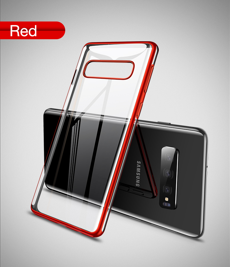 Cafele Plating Transparent Case for Samsung Galaxy S10 Plus S10e Cover Soft TPU Thin Silicon Case for Samsung S10 S10Plus S10e (11)