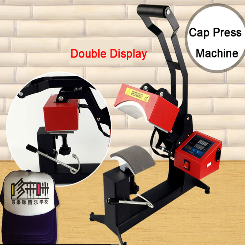 Double Display Sublimation Cap Heat Press Machine Cap Hat Heat Transfer DIY Personalised Baseball Snapback Sublimation