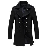 상하이 이야기 남성 트렌치 코트 패션 모직 긴 코트 겨울 트렌치 코트 남성 m l xl xxl xxxl