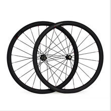 Full Carbon Bicycle Wheels Front or Rear 700C Road Bike Wheels Light Weight 3K/UD Glossy/Matt Surface Novatec Hub EMS Shipping