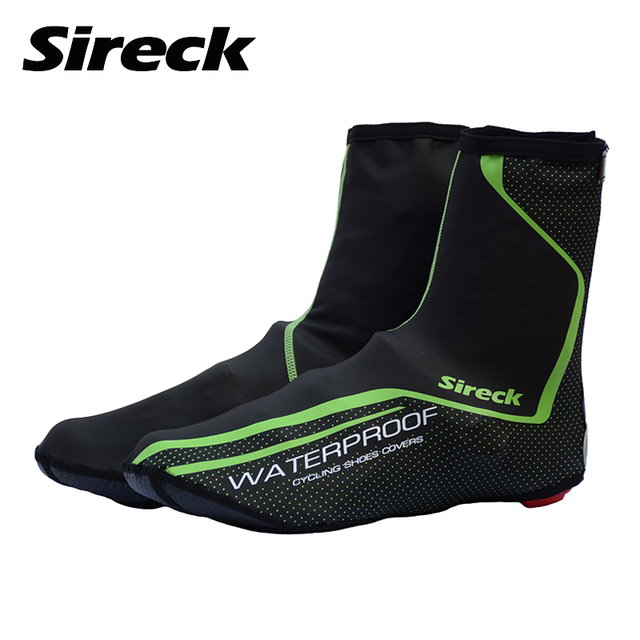 Sireck Cycling Shoe Cover Waterproof Bike Shoes Cover Winter Fleece Thermal Cycling Overshoes Reflective Bicycle Shoe Covers