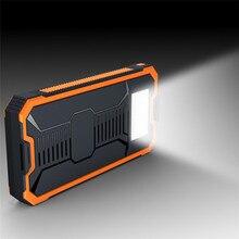 10000 Mah Cargador Solar Resistente Al Agua 2 Puertos Cargador Power Bank Batería Externa Portable Para Xioami Samsung Con Luz LED Para SOS