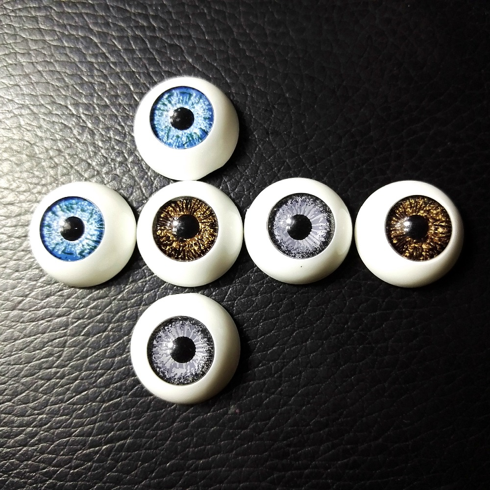 10Pairs/LOT Wholesale Dolls Eyeball Accessories High Quality 12MM Acrylic Doll Eyes Reborn Eyes For Toys Mix Color 10pcs lot high quality acrylic holder