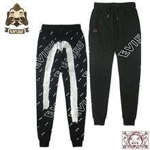 Genuine Evisu Cotton High Quality Full Printing Fashion Warm Breathable Mens Sports Pants Wild Casual Trousers F091