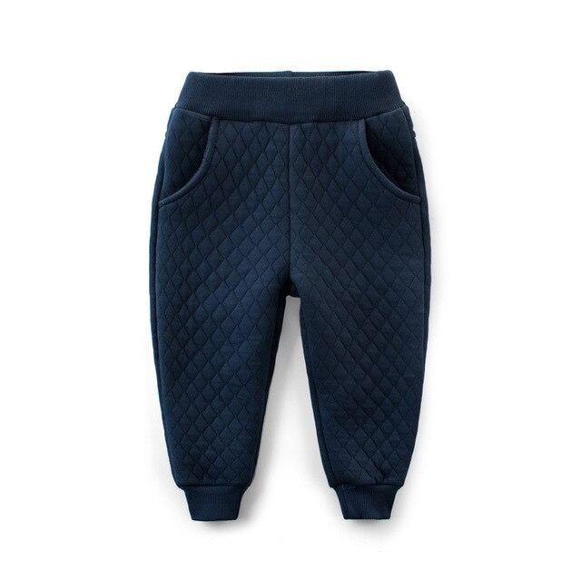 c4ffee8df Boys Pants Children Harem Pants Geometric Thick Warm Baby Girls ...