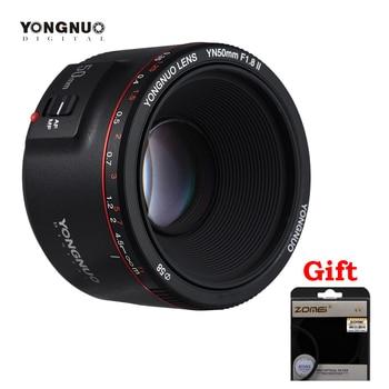 YONGNUO YN50mm F1.8 II 50mmLarge Aperture Auto Focus Lens for Canon Camera Lens for Canon EOS 70D 5D2 5D3 600D DSLR yongnuo