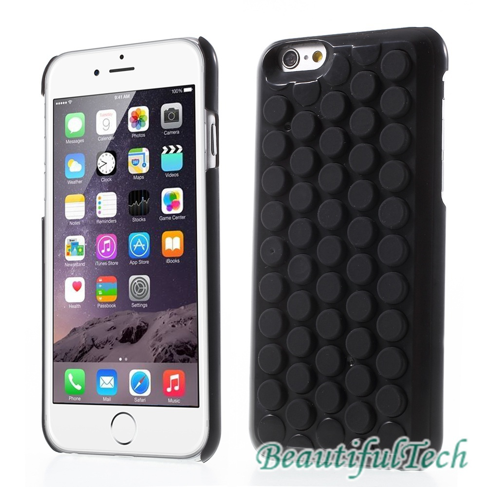 for iPhone 6 Silicone Bubble Wrap Pop Case PC Hard Cover for iPhone 6