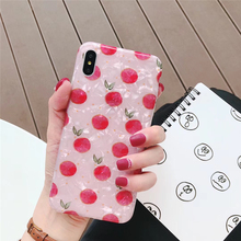 Samtsui Full Screen Cherry Phone Case For iPhone X XS MAX XR Kawaii Soft TPU Shell Pattern Cover 6 6s 7 8 Plus Caque