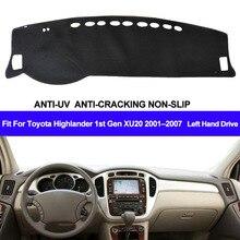 Коврик для приборной панели автомобиля для Toyota Highlander 1st Gen XU20 2001 2002 2003 2004 2005 2006 2007 авто солнцезащитный коврик ковер