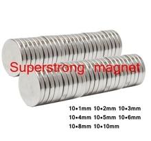 N50 10×1 мм 10×2 мм супер сильный Круглый магнитов неодимовый магнит редкоземельных магнитов 20 штук
