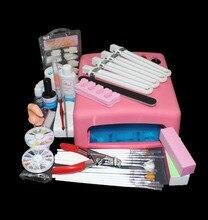 BTT-81 Pro 36W UV GEL Curing Bulb Lamp 15 Brush Pen File Nail Art Tips Tool Kits,nail art uv gel kit at free shipping