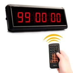 29 cm 6 Cijfers Wandklok LED Countdown Klok IR Remote Display Board Gym Tellen Countdown Timer Voor Escape school Toespraak