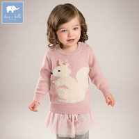 DB5275 Dave Bella Autumn Newborn Baby Girls Wool Pullover Tops Infant Clothes Toddler Children Knitted Sweater